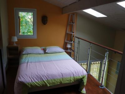 Photo for Duplex Studio 55m2 with mezzanine ... garden view, quiet