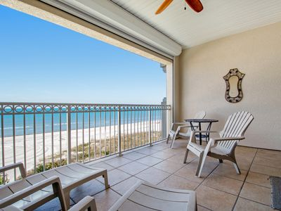 Photo for Gulf front townhome right on the beach with shared heated pool!