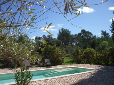 Photo for Green Provence house private swimming pool olive grove 1,5 hec quiet animals OK