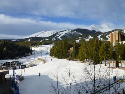 Photo for Ski In / Ski Out, 2 BD / 2 BA Condo, Sleeps 7, 1 Block to Main, Village at Breck