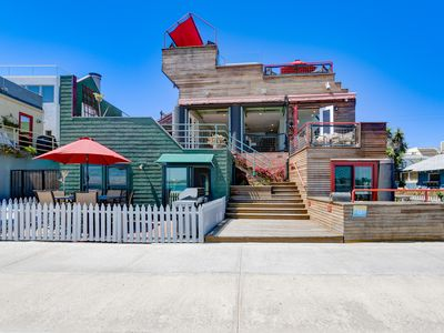Photo for Door to Beach in 0.02 seconds!!!  2bd/2ba SandCastle on beach and bay level!