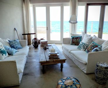 Huge main room consisting of living, dining and kitchen all with this great view