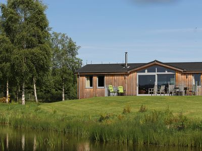 Photo for EXCEPTIONAL Secluded Lodge in it's own private woodland with a luxury steam room