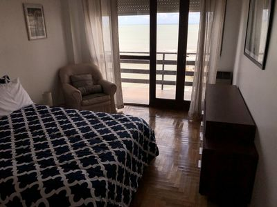 Photo for apartment with double balcony and garage, full view of the sea