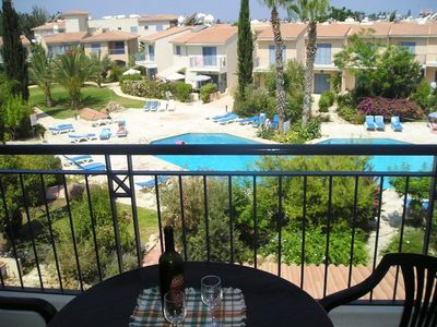 Photo for VIEWS OVER SWIMMING POOL, WI-FI, 2 BED SPACIOUS APARTMENT,  A/CON, POOL