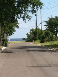 View of beach from our driveway