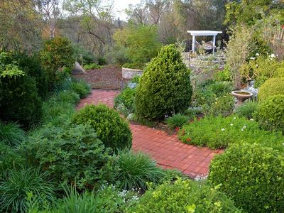Take a relaxing stroll in this lush garden