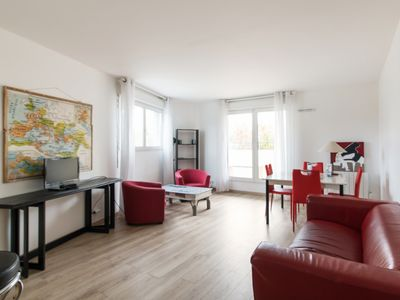 Photo for Bright flat with terrace in St Denis, 2 min from Stade de France - Welkeys