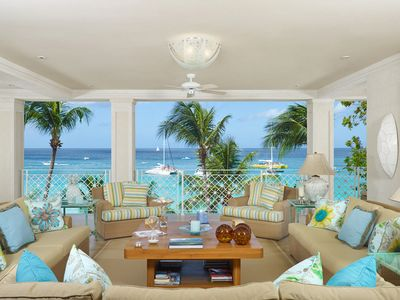 Photo for SMUGGLERS COVE 5 - LUXURY 4 BEDROOM BEACH FRONT VILLA ON PAYNES BAY BEACH