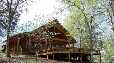 Photo for War Eagle Lake House Amazing 50 Acre Estate, 180 Lake Front, Swim Dock, Easy Slope