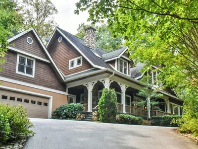 Photo for Asheville Luxury Home - Private with Creek in Exclusive Gated Community (RAMBLE)
