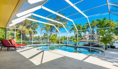Photo for Spacious, family friendly home on the Water. Heated Pool