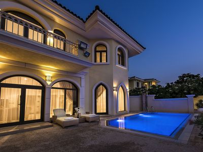 Photo for DUBAI BEACH VILLA - XANADUBAI - 5 bedrooms (10 beds),privatepool,car+driver+maid
