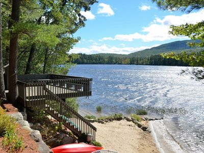 Photo for LOON LAKE HOUSE - Lakefront living in Freedom, NH. Mountains, lakes & activities