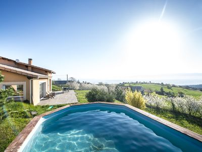 Photo for Very beautiful villa with exceptional panorama from Mont-Blanc to Mont Ventoux