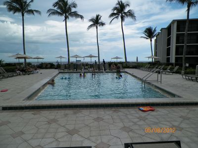 Heated beachfront pool free for your use and just steps from K303.