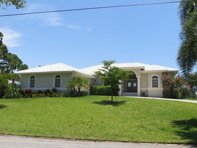 large home on beautiful private bayfront lot