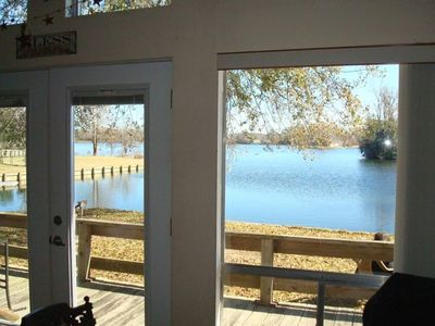 Photo for Cozy Lake Front Chalet, Quiet, Relaxing, Beautiful View, Large Fenced Yard