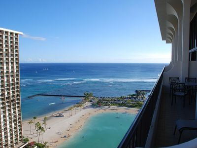 Photo for 2 Story Penthouse 2 Bed, 2.5 Bath Ocean View Lagoon Tower HGVC Hawaiian Village