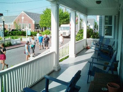 Watch the town go by from P-town's large st front porch!