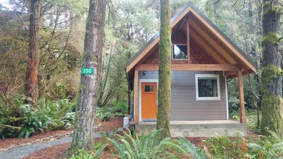 Photo for Newly built deluxe cabins, in a private redwood setting near the Smith River