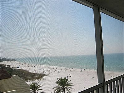 Photo for Beachfront Penthouse - Expansive Gulf View from Every Room! Wifi, Screened Lanai