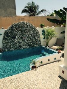 Photo for Casa Marlin , 2 bedroom w/private Pool, Caribbean view from Rooftop
