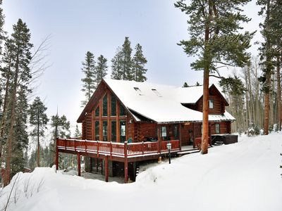 Photo for Private and Cozy Mountain Cabin with Pool Table, Private Hot Tub and Lovely View