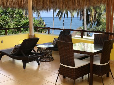 Photo for Villa Amarilla, Luxurious Beachfront 4bd, 4ba, Surf out front