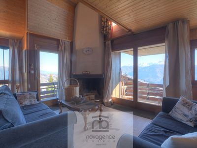 Photo for Duplex apartment including: Downstairs: big living room with open chimney, dining area, closed kitc