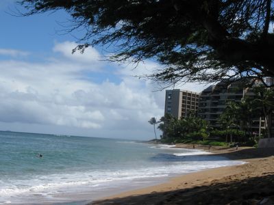Just steps from the condo to Kahana Beach