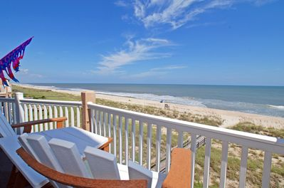 Extraordinary views  on your oceanfront  wrap around deck. Shade or sun!
