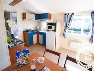 Photo for Camping La Mer Blanche *** - Maeva Camping - Mobile Home Comfort 4 Rooms 6/8 People