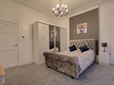 Master bedroom in the flat