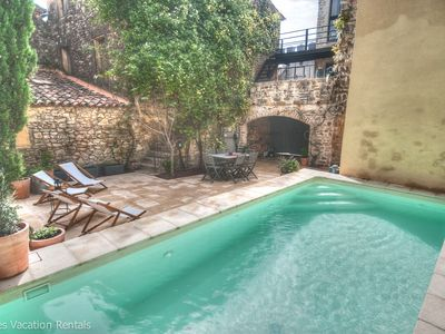 Photo for Silkworm Ceyrargues, 17th century near Uzes, private heated pool