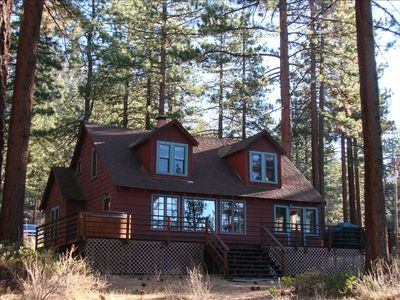 Photo for Charming Tahoe Cabin W/Lake View & Private Beach, Sleeps 10