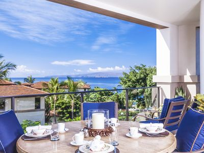 Photo for Azure Azul M212 at Wailea Beach Villas - Panoramic Ocean View Villa