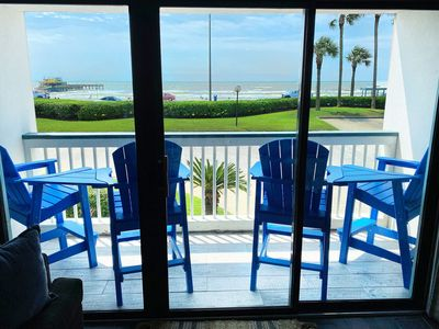'Seaside Getaway'- Front Row Beachfront- Remodeled- Luxurious- Clean Fully Stocked w/ Heated Pool!