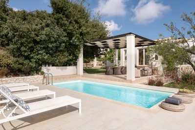 Sophisticated pool surroundings offering a sense of genuine tranquility