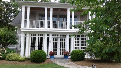 Front of House - Sunny porch below - Screened porch above!