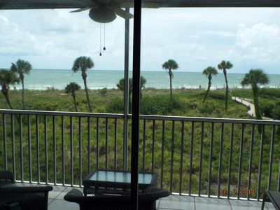 Photo for 1 bed 1 bath sleeper sofa ON the beach no roads to cross screened patio elevator