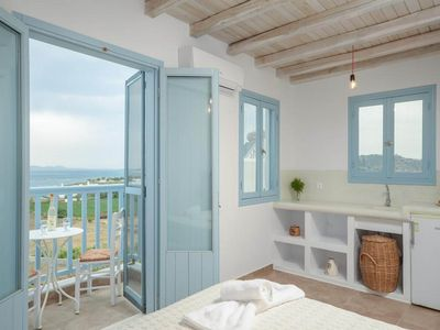 Photo for Ocean Blue Bay Suite welcomes you to Naxos - One Bedroom Hotel, Sleeps 2