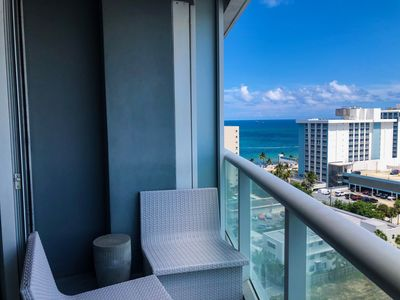 Photo for Steps to Sand,Luxury Condo,King Bed,Queen Sofa Bed,Ocean/Intracoastal View, High Floor