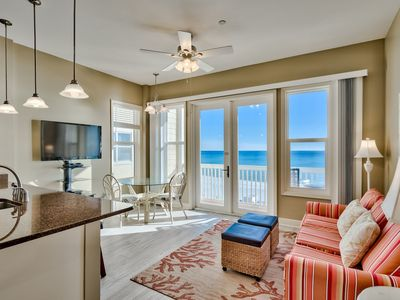 Photo for No contact check in and check out.  Beachfront King Bed- Perfect Couples Getaway in the Seaside Area