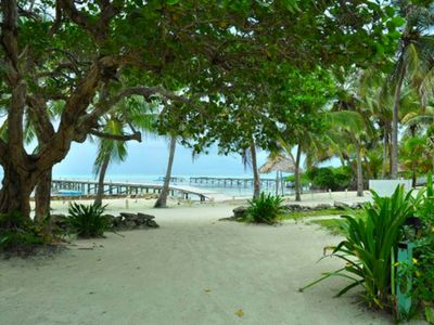 beach property, 'palms garden view',  steps from the beach, close to town-HDRB