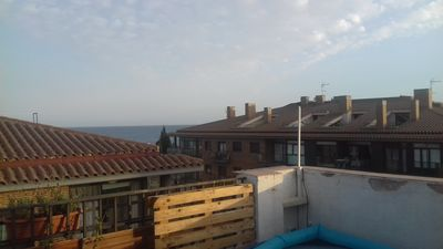 Photo for Penthouse apartment with barbecue terrace and sea views