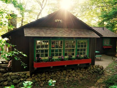 Photo for Charming Vintage Lakefront Cabin with Modern Comforts