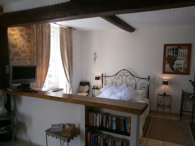 Photo for Romantic get away on the square in Saint-Chinian with fantastic walking and wine