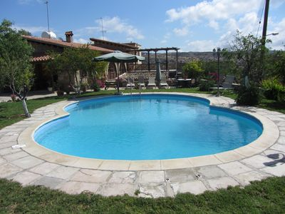 Stone build 3 bedroom house with pool