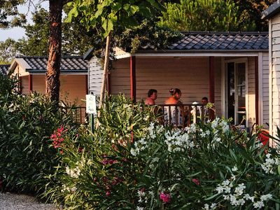 Photo for Camping Domaine de la Pinede Enchanted *** - Bungalow Mediterranean 3 Rooms 4 People